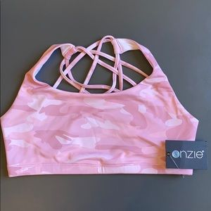 NWT Onzie Chic Yoga Pink Camo Sports Bra